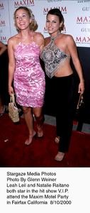 """Maxim Motel Grand Opening Party,""8/10/00.  Leah Leil and Natalie Raitano. © 2000 Glenn Weiner - Image 17152_0109"