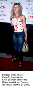 """Maxim Motel Grand Opening Party,""8/10/00.  Kristy Swanson. © 2000 Glenn Weiner - Image 17152_0111"