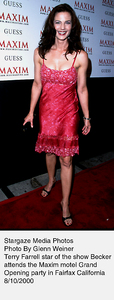 """""""Maxim Motel Grand Opening Party,""""8/10/00.  Terry Farrell. © 2000 Glenn Weiner - Image 17152_0118"""