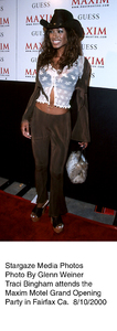 """Maxim Motel Grand Opening Party,""8/10/00. Traci Bingham. © 2000 Glenn Weiner - Image 17152_0119"