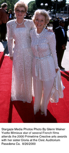 """Primetime Emmy Creative Arts Awards - 2000,""8/26/00.  Yvette Mimieux with sister Gloria. © 2000 Glenn Weiner - Image 17169_0109"