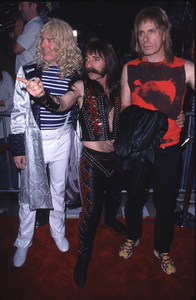 """""""This Is Spinal Tap"""" Premiere (Re-release).9/5/00.  Michael McKean, Harry Shearer,and Christopher Guest. © 2000 Glenn Weiner - Image 17198_0004"""