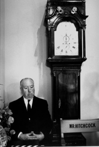 """Alfred Hitchcock on the set of """"Marnie"""" at Universal Studios, 1964. © 1978 Bob WilloughbyMPTV - Image 17_350"""