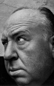 """Alfred Hitchcock on the set of """"The Man Who Knew Too Much,"""" self-portrait with the help of Bill Avery for """"Hollywood Shoots Itself,"""" 1956. © 1978 Bill AveryMPTV - Image 17_383"""