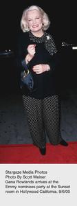 """""""Emmy Nominees Party,"""" 9/6/00.Gena Rowlands. © 2000 Scott Weiner - Image 17200_0103"""