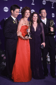 """""""Emmy Awards: 52nd Annual (Primetime),""""9/10/2000.  McCormack, Messing, Mullally,and Hayes.  (Will & Grace cast). © 2000 Glenn Weiner - Image 17208_0012"""