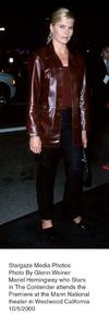 """""""Contender, The"""" Premiere.Mariel Hemingway.  10/5/00. © 2000 Glenn Weiner - Image 17245_0106"""