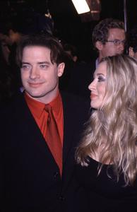 """Bedazzled"" Premiere.Brendan Fraser and wife Afton.10/17/00. © 2000 Scott Weiner - Image 17264_0006"