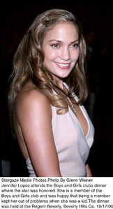 Boys And Girls Clubs Dinner:Jennifer Lopez.  10/17/00. © 2000 Glenn Weiner - Image 17266_0100