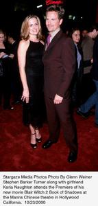 """""""Blair Witch 2: Book Of Shadows"""" Premiere.Stephen Barker Turner with girlfriendKaria Naughton.  10/23/00. © 2000 Glenn Weiner - Image 17270_0102"""