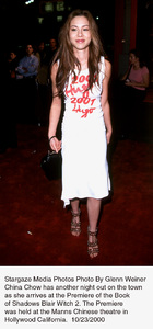 """Blair Witch 2: Book Of Shadows"" Premiere.China Chow.  10/23/00. © 2000 Glenn Weiner - Image 17270_0107"