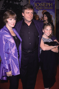 "Mark Hamill with wife Marilou and daughter.""Joseph: King Of Dreams"" Premiere, 10/30/00. © 2000 Glenn Weiner - Image 17278_0002"