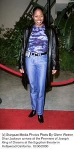"Shar Jackson""Joseph: King Of Dreams"" Premiere, 10/30/00. © 2000 Glenn Weiner - Image 17278_0101"