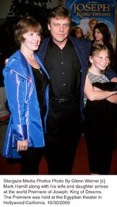 "Mark Hamill, wife Marilou, daughter.""Joseph: King Of Dreams"" Premiere, 10/30/00. © 2000 Glenn Weiner - Image 17278_0102"