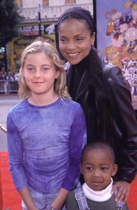 """Victoria Rowell, kids Mya & Casper""""Rugrats In Paris: The Movie"""" Premiere, 11/5/00. © 2000 Scott Weiner - Image 17290_0008"""