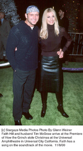 """Tim McGraw, Faith Hill""""How The Grinch Stole Christmas"""" Premiere, 11/8/00. © 2000 Glenn Weiner - Image 17300_0108"""