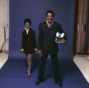 Deacon Jones and his wife1969© 1978 Sid Avery - Image 17309_0001