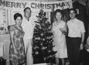 Bob Hope with wife Dolores and childrenduring a U.S.O. Christmas tour in Southeast Asia1966Photo By Gerald SmithMPTV - Image 173_476