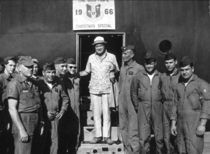 Bob Hope during a U.S.O.Christmas tour in Southeast Asia1966Photo By Gerald SmithMPTV - Image 173_483