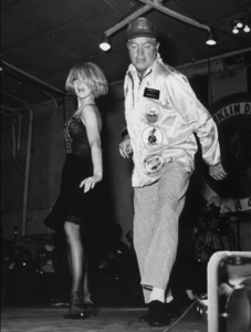 Bob Hope with Joey Heatherton performing on the U.S.S. Franklin Roosevelt in the Gulf of Tonkin1966Photo By Gerald SmithMPTV - Image 173_484