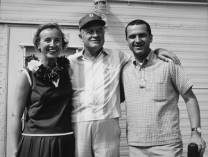 Bob Hope with wife Dolores and sonduring a U.S.O.Christmas tour in Southeast Asia, 1966Photo By Gerald SmithMPTV - Image 173_485