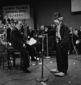 "Bob Hope and Vance ""Nutsy the Clown"" Colvagon the Olympic Telethon1952Photo By Gerald SmithMPTV - Image 173_503"