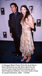 "Dylan McDermott, wife Shiva""Divine Design Gala - 8th Annual,"" 11/30/00. © 2000 Scott Weiner - Image 17334_0103"
