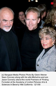 "Sean Connery, son Jason Connery, wife Micheline""Finding Forrester"" Premiere, 12/1/00. © 2000 Glenn Weiner - Image 17336_0103"