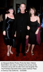 """Scott Glenn, wife Carol, daughter Rio""""Vertical Limit"""" Premiere, 12/3/00. © 2000 Glenn Weiner - Image 17338_0101"""