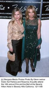"Patricia Arquette, sister Rosanna Arquette""Fire And Ice Ball: 10th Annual,"" 12/11/00. © 2000 Glenn Weiner - Image 17348_0102"