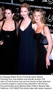 "Courteney Cox, Lisa Kudrow, Jennifer Aniston-Pitt""Fire And Ice Ball: 10th Annual,"" 12/11/2000. © 2000 Glenn Weiner - Image 17348_0107"