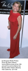 """Vanna White""""Fire And Ice Ball: 10th Annual,"""" 12/11/00. © 2000 Glenn Weiner - Image 17348_0110"""