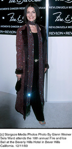 """Sela Ward""""Fire And Ice Ball: 10th Annual,"""" 12/11/00. © 2000 Glenn Weiner - Image 17348_0115"""