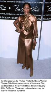 """Tracee Ellis Ross""""Fire And Ice Ball: 10th Annual,"""" 12/11/00. © 2000 Glenn Weiner - Image 17348_"""