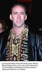 "Nicolas Cage""Family Man, The"" Premiere, 12/12/00. © 2000 Glenn Weiner - Image 17355_0104"