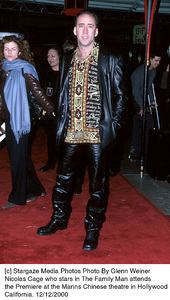 "Nicolas Cage""Family Man, The"" Premiere, 12/12/00. © 2000 Glenn Weiner - Image 17355_0105"