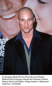 """Matthew McConaughey""""What Women Want"""" Premiere, 12/13/00. © 2000 Scott Weiner - Image 17357_0104"""