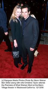 """Ben Stiller, wife Christine Taylor""""What Women Want"""" Premiere, 12/13/00. © 2000 Glenn Weiner - Image 17357_0112"""