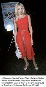 "Sarah Jessica Parker""State And Main"" Premiere,12/18/00. © 2000 Scott Weiner - Image 17394_0102"