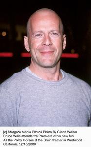 "Bruce Willis""All The Pretty Horses"" Premiere, 12/17/00. © 2000 Glenn Weiner - Image 17395_0105"