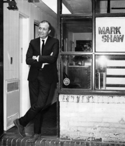 Photographer Mark Shaw standing near his studio at 142 East 30th Street in New York City1964 - Image 17397_0013