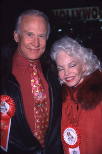 "Buzz Aldrin, Wife Lois""Hollywood Christmas Parade: 2000,"" 11/26/00. © 2000 Scott Weiner - Image 17408_0007"