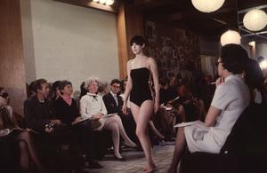 Peggy Moffitt modeling for Rudi Gernreich