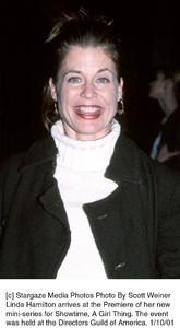 "Linda Hamiltonat the ""A Girl Thing"" Premiere, 1/10/01. © 2001 Scott Weiner - Image 17543_0106"