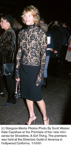 """Kate Capshawat the """"A Girl Thing"""" Premiere, 1/10/01. © 2001 Scott Weiner - Image 17543_0107"""