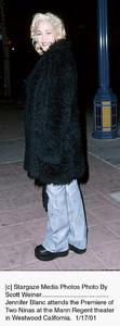 "Jennifer Blancat the ""Two Ninas"" Premiere, 1/17/01. © 2001 Scott Weiner - Image 17569_0103"