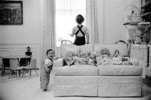John Kennedy Jr. and Caroline Kennedy at The White Housecirca 1961 © 2000 Mark Shaw - Image 17572_0004