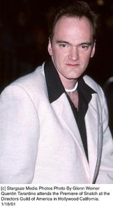 """Quentin Tarantino""""Snatch"""" Premiere, 1/18/01. © 2001 Glenn Weiner - Image 17573_0106"""