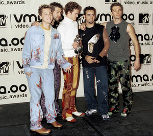 NSYNC (Lance Bass, Joey Fatone,Justin Timberlake, Chris Kirkpatrick, JC Chasez)MTV Video Music Awards: 2000 © 2000 Ariel Ramerez - Image 17591_0103