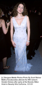"Melina Kanakaredes""Golden Globe Awards: WB After Party 2001,"" 1/21/01. © 2001 Scott Weiner - Image 17607_0117"